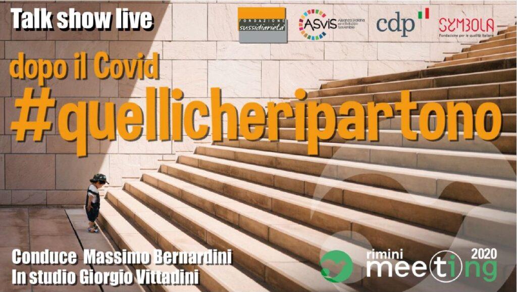 """TALK SHOW LIVE """"DOPO IL COVID #QUELLICHERIPARTONO"""""""